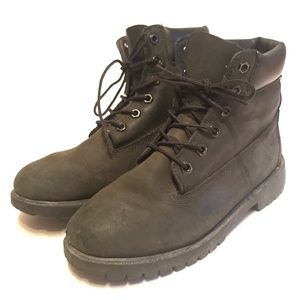 Other - Timberland Boys Suede Youth Work Boots Size 6.5